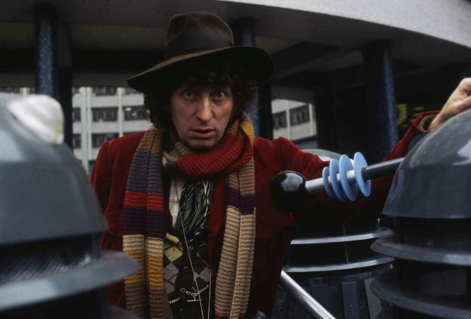 Tom Baker played the Doctor from 1974 to 1981. He was the longest lasting and most eccentric Doctor who was known for his mile-long scarf, floppy hat and comical flair. Photo: Anwar Hussein, Getty Images / 2006 Getty Images