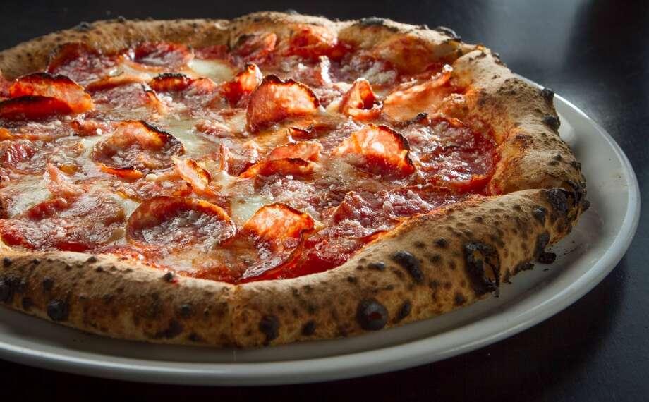 The Fra Mani Salametto Salami Pizza at Benchmark Pizzeria in Kensington ($12).