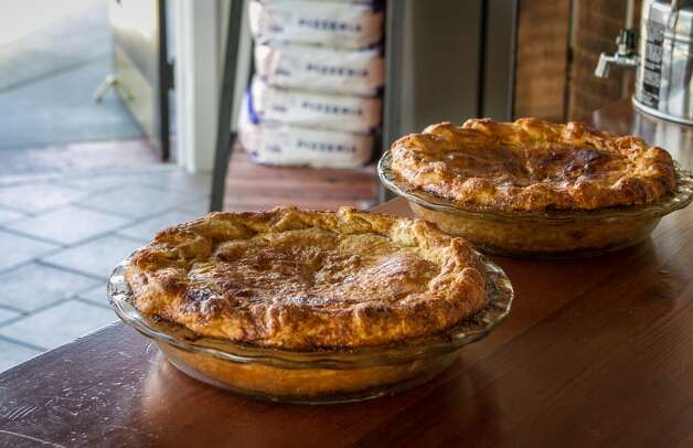 Apple Pies from the wood oven at Benchmark Pizzeria in Kensington.