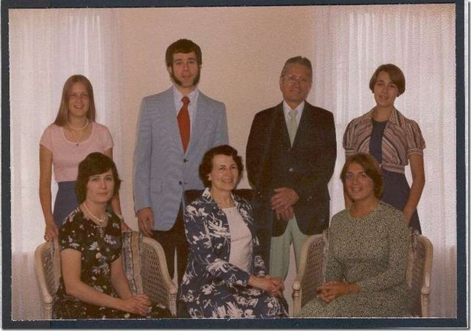 Then: One July 4, 1976, the Bock family celebrated the Bicentennial by taking a professional portrait in Plattsburgh, N.Y. They are (front row, from left) Bonnie, mom Virginia and Brenda and (back row), Sheri, George Bock II, dad George and Melanie. Photo: Bock, Reader Submission