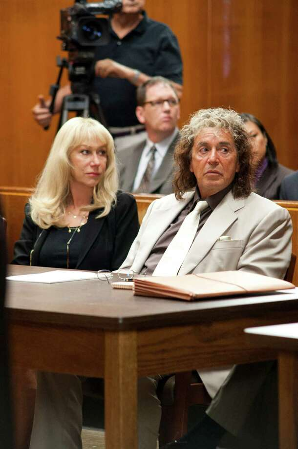 "This undated publicity image released by HBO shows Helen Mirren, left, and Al Pacino in a scene from the HBO film, ""Phil Spector,"" premiering Sunday, March 24 at 9 p.m. (AP Photo/HBO, Phil Caruso) Photo: Phil Caruso"