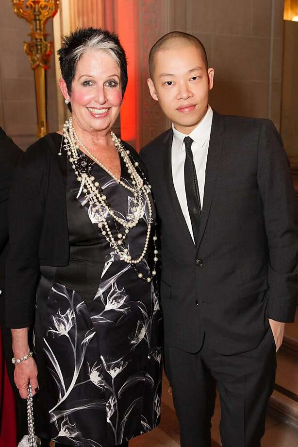 Karen Kubin and Jason Wu during the San Francisco Opera Guild and Neiman Marcus Union Square's presentation of The Art of Fashion: Jason Wu runway show on March 21, 2013. Photo: Drew Altizer Photography