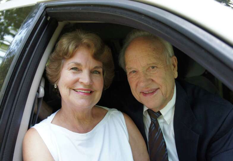 Now: 50 years later on December 29, 2012, George and Patricia before their Golden Wedding Ann
