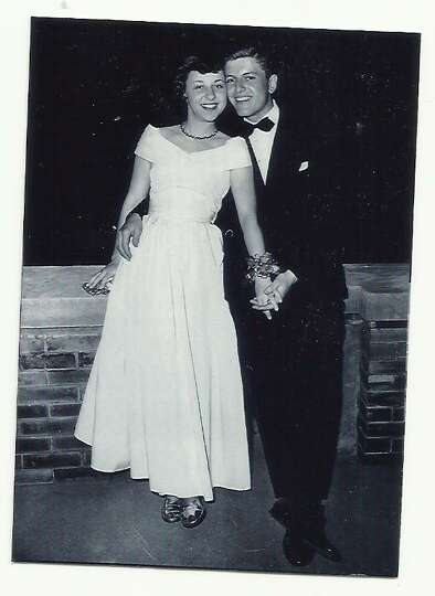 Then: Ruth Paul and Tony Weissgarber, taken in 1949. Both were students at Kent State Univers