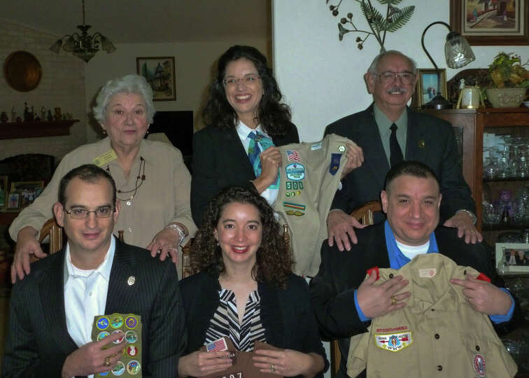 Now: More than 30 years later, eight of Ted and Sylvia Ozuna's 11 grandchildren are Scouts.