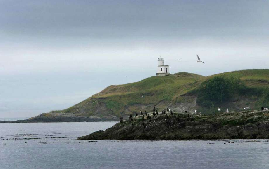 The Cattle Point Lighthouse is shown on the southwest tip of San Juan Island. On Monday President Barack Obama will create a 955-acre national monument in the scenic San Juan Islands.  Photo: JOSHUA TRUJILLO, Seattle Post-Intelligencer / SEATTLEPI.COM