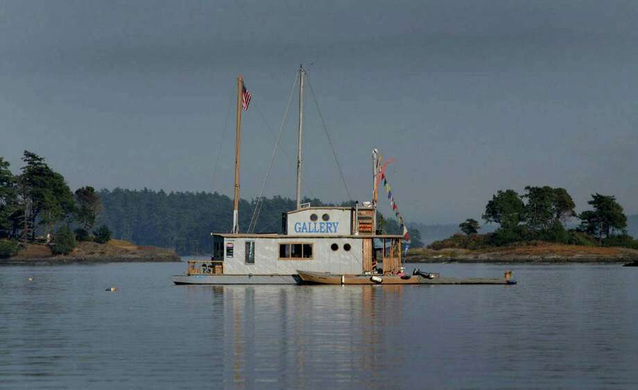 A floating art gallery is shown in a cove near Stuart Island. On Monday President Barack Obama will create a 955-acre national monument in the scenic San Juan Islands. Photo: JOSHUA TRUJILLO, Seattle Post-Intelligencer / SEATTLEPI.COM
