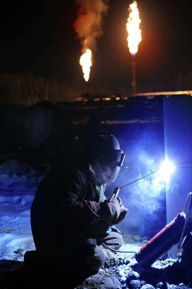 After mastering the basics, welders learn on-site specialized skills relevant to whatever industry or company they go into. / iStockphoto