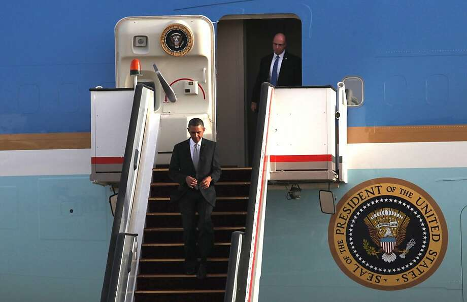 Energy politics are on President Obama's agenda whether he's visiting Jordan (where he was photographed Friday) or raising money in California. Photo: Associated Press