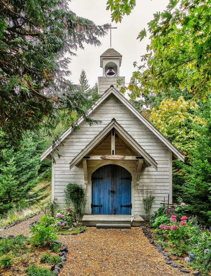 Chapel of Scimitar Ridge Ranch, 7535 Highway 20, on Fidalgo Island. The 70-acre camp, built in 1993, features a 21,760-square-foot main residence, a lodge, a chapel, a barn turned lodge known as 'The Ark,' a barn turned apartment, a carriage house, a pump station, an office with two apartments and a barbecue pavilion. It's listed for $8.5 million. Photo: Courtesy John Prosser And Wally Gudgell/Windermere Real Estate