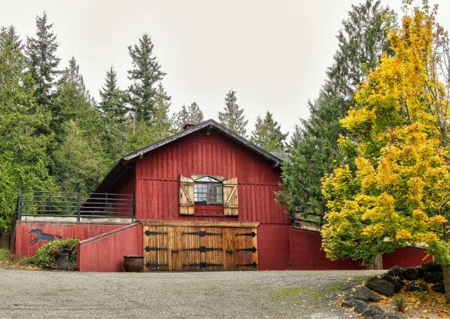 Barn apartment of Scimitar Ridge Ranch, 7535 Highway 20, on Fidalgo Island. The 70-acre camp, built in 1993, features a 21,760-square-foot main residence, a lodge, a chapel, a barn turned lodge known as 'The Ark,' a chapel, a carriage house, a pump station and a barbecue pavilion. It's listed for $8.5 million. Photo: Courtesy John Prosser And Wally Gudgell/Windermere Real Estate