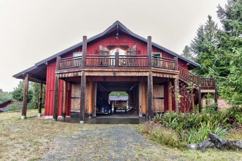 'The Ark' of Scimitar Ridge Ranch, 7535 Highway 20, on Fidalgo Island. The 70-acre camp, built in 1993, features a 21,760-square-foot main residence, a lodge, a chapel, a barn turned apartment, a chapel, a carriage house, a pump station, an office with two apartments and a barbecue pavilion. It's listed for $8.5 million. Photo: Courtesy John Prosser And Wally Gudgell/Windermere Real Estate