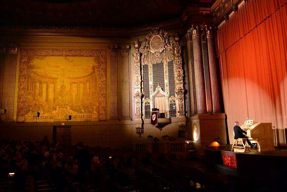 David Hegarty plays the Wurlitzer organ this month before a screening at the Castro Theatre. Hegarty has been the theater's principal organist since 1983. Photo: Sean Havey, The Chronicle