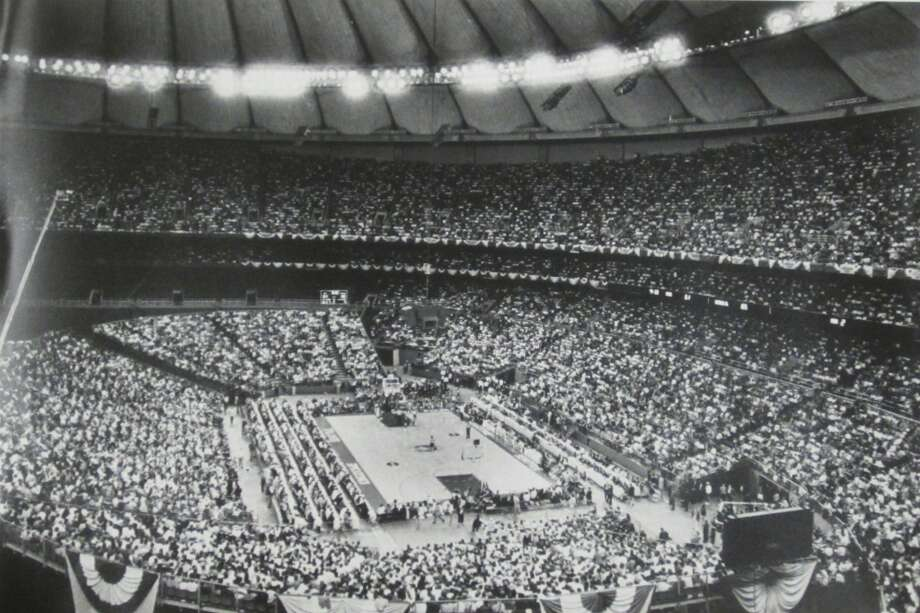 1989: The interior of the Kingdome is seen during the semifinal NCAA Tournament games April 1, 1989, during the Final Four in Seattle.
