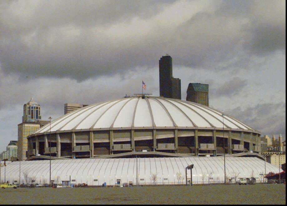 1995:The caption to this March 15, 1995, AP photo reads: ''As the battle between 64 college basketball teams starts, the Seattle Kingdome sits ready March 15, 1995, as the site for the NCAA Final Four, which will be held April 1st and 3rd between the top teams in America.''