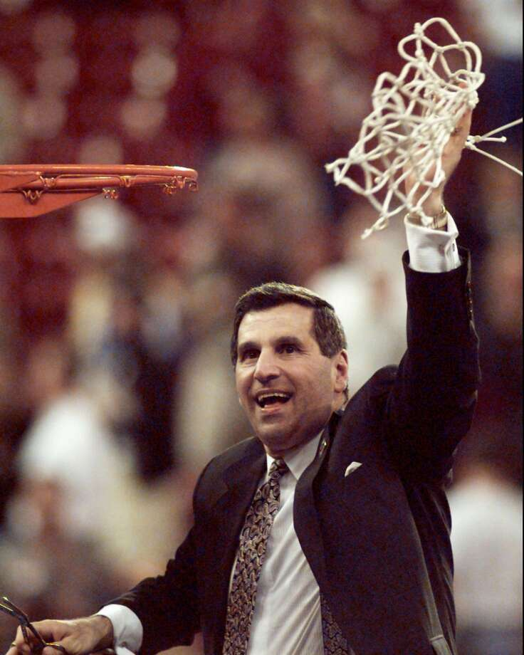 1995: The caption to this April 3, 1995, AP photo reads: ''UCLA's Jim Harrick holds the net up after winning the NCAA National Championship, defeating the Arkansas Razorbacks 89-78 Monday April 3, 1995, at the Kingdome in Seattle.''