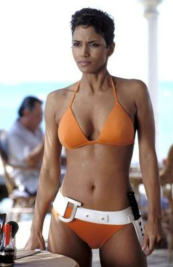 Halle Berry was Bond girl ''Jinx'' in 2002's ''Die Another Day,'' in which she's first seen rising from the ocean, in a nod to Ursula Andress' famous scene decades earlier.