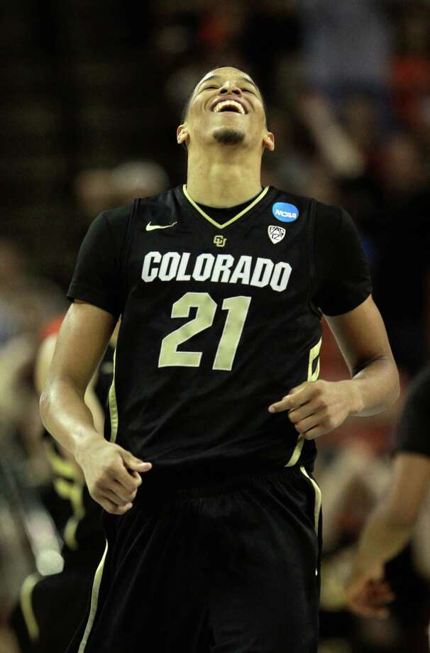 Andre Roberson (21) of the Colorado Buffaloes celebrates against the Illinois Fighting Illini during the second round of the 2013 NCAA Men's Basketball Tournament at The Frank Erwin Center on March 22, 2013 in Austin. Ronald Martinez/Getty Images Photo: Ronald Martinez, Getty Images / 2013 Getty Images