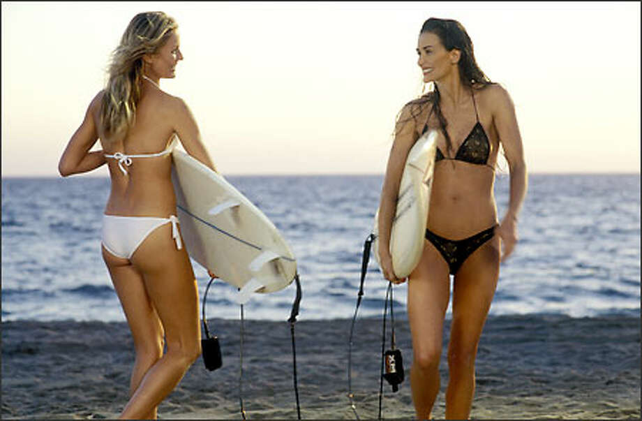 Demi Moore, right, held her own against much younger Cameron Diaz in ''Charlie's Angels 2'' in 2002.