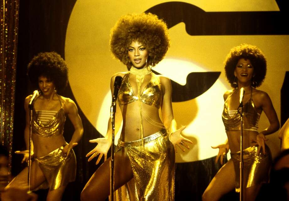 Beyonce, center, doned a gold bikini top as Foxxy Cleopatra in ''Austin Powers in Goldmember'' (2002).