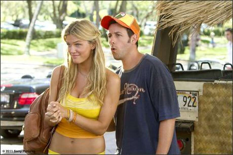 Brooklyn Decker wore a tiny yellow bikini in ''Just Go With It,'' with Adam Sandler.