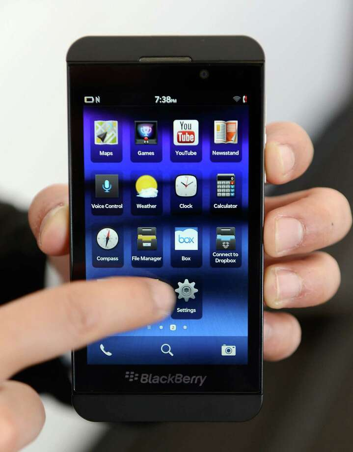 The BlackBerry Z10 smartphone went on sale in the U.S. on Friday. Photo: Getty Images