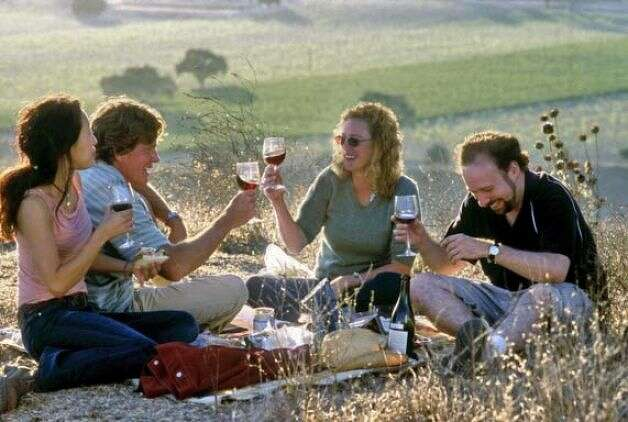 SIDEWAYS -- a California road trip, starring Paul Giamatti.