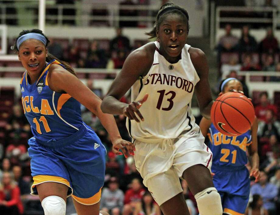 Stanford's Chiney Ogwumike (13), who played at Cy-Fair, ranks among the top five in Division I in the nation in four categories - 22.9 points, 12.7 rebounds per game, .591 field-goal percentage and 23 double-doubles. Photo: Lance Iversen, Staff / ONLINE_YES