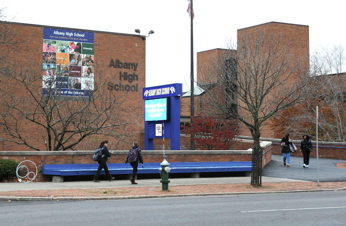 Exterior of Albany High School on Washington Avenue Friday Nov. 30, 2012 in Albany, N.Y. (Lori Van Buren / Times Union)