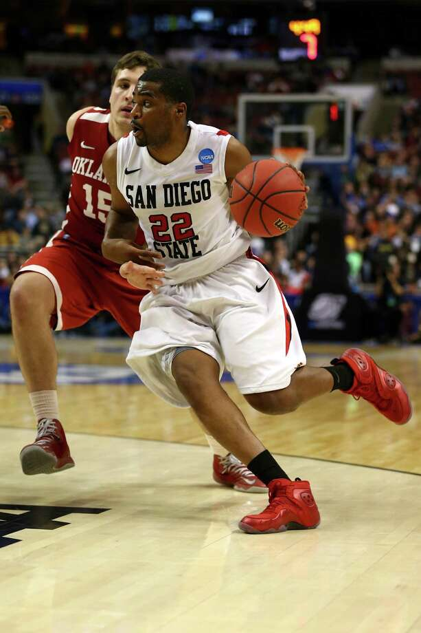 San Diego State 70, Oklahoma 55PHILADELPHIA, PA - MARCH 22:  Chase Tapley #22 of the San Diego State Aztecs drives in the first half against the Oklahoma Sooners during the second round of the 2013 NCAA Men's Basketball Tournament at Wells Fargo Center on March 22, 2013 in Philadelphia, Pennsylvania. Photo: Elsa, Getty Images / 2013 Getty Images
