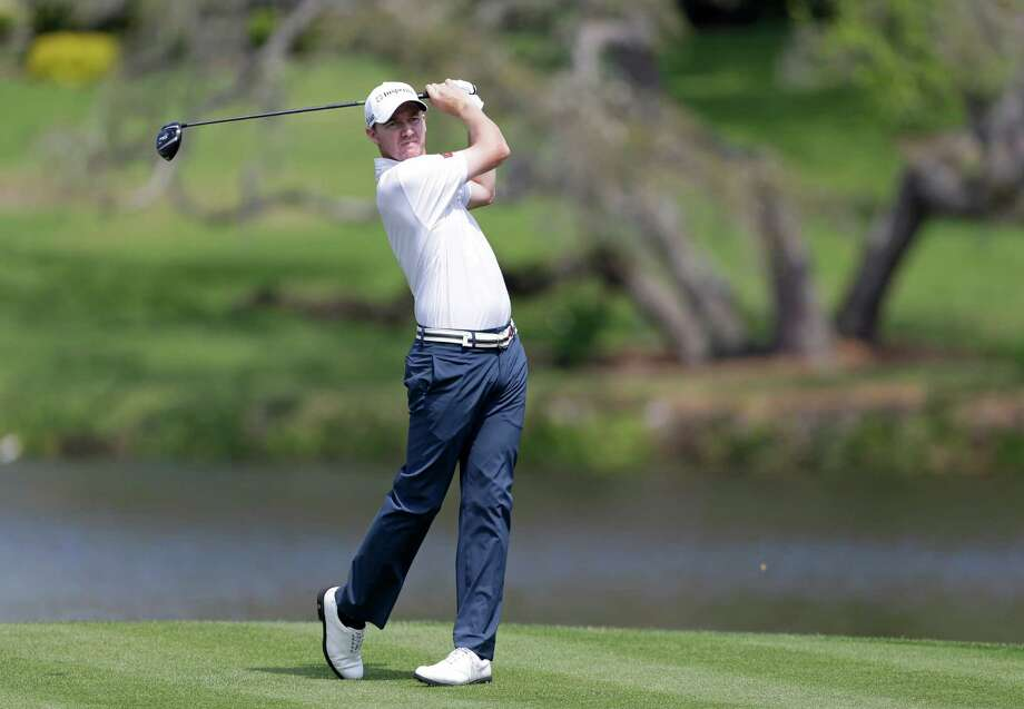Jimmy Walker hits a shot from the 16th tee during the second round of the Arnold Palmer Invitational golf tournament, Friday, March 22, 2013, in Orlando, Fla. (AP Photo/John Raoux) Photo: John Raoux, Associated Press / AP