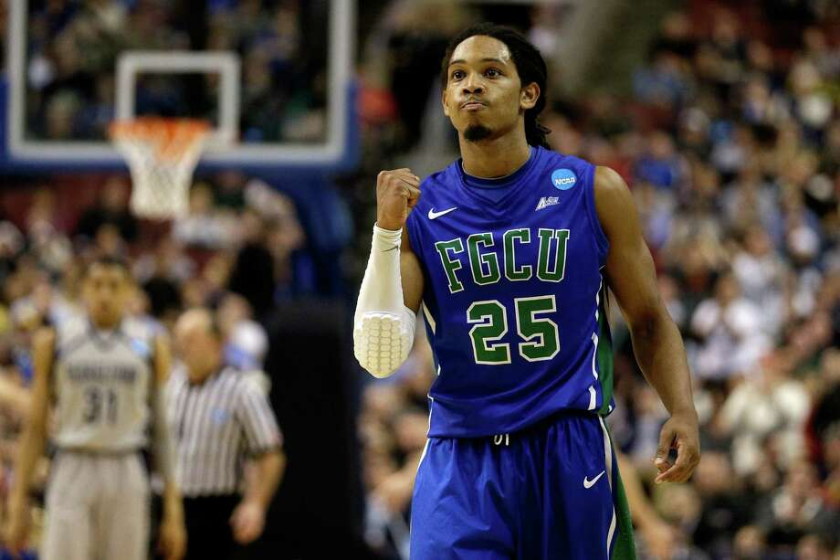 Sherwood Brown's 24 points, and a healthy dose of swagger, propelled Florida Gulf Coast's shocker over Georgetown in its first NCAA tournament. Photo: Rob Carr / Getty Images