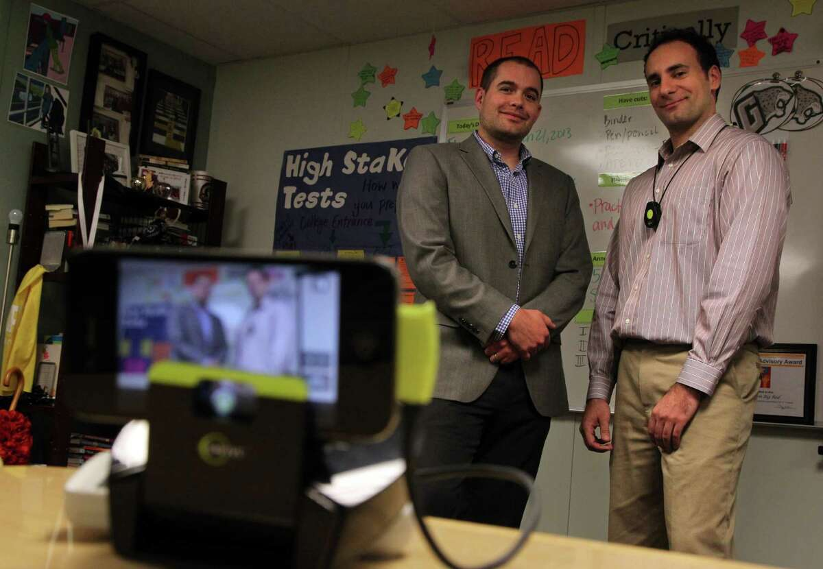 Daniel Smith and Dave Wakefield, developers of Sibme, which lets teachers record themselves and upload video to a secure site for professional development.