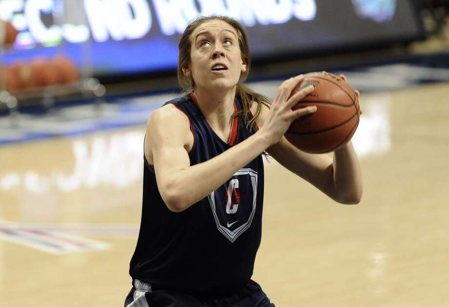 Connecticut's Breanna Stewart looks to shoot during practice for a first-round game in the women's NCAA college basketball tournament in Storrs, Conn., Friday, March 22, 2013. Connecticut will play Idaho on Saturday. (AP Photo/Jessica Hill)