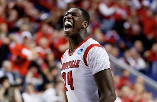 LEXINGTON, KY - MARCH 23:  Montrezl Harrell #24 of the Louisville Cardinals reacts after a play against the Colorado State Rams in the first half during the third round of the 2013 NCAA Men's Basketball Tournament at Rupp Arena on March 23, 2013 in Lexington, Kentucky. Photo: Kevin C. Cox, Getty Images / 2013 Getty Images