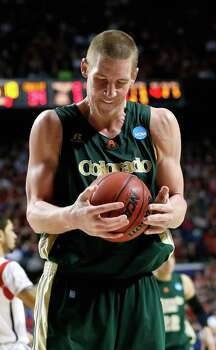 LEXINGTON, KY - MARCH 23: Colton Iverson #45 of the Colorado State Rams reacts to a call in the second half against the Louisville Cardinals during the third round of the 2013 NCAA Men's Basketball Tournament at Rupp Arena on March 23, 2013 in Lexington, Kentucky. Photo: Kevin C. Cox, Getty Images / 2013 Getty Images
