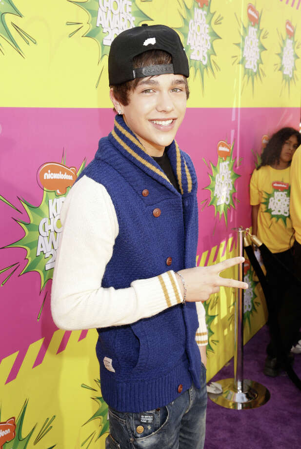 Singer Austin Mahone arrives at the 26th annual Nickelodeon's Kids' Choice Awards on Saturday, March 23, 2013, in Los Angeles. Photo: Todd Williamson, Associated Press / Invision