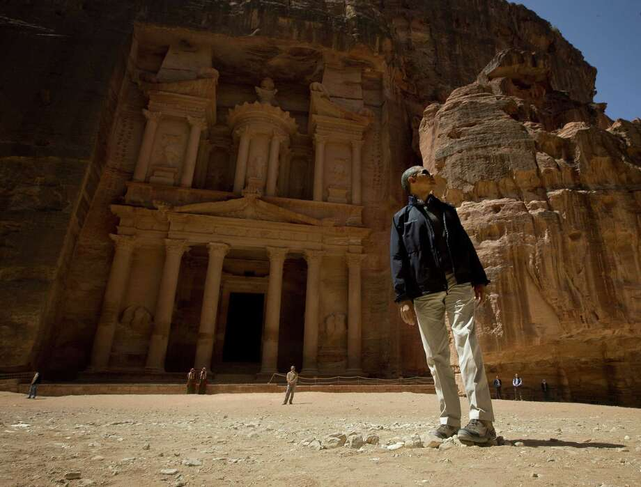 President Barack Obama visits the ancient city of Petra in Jordan on his way home from Israel and Jordan, where his negotiating ability was showcased. Photo: Pablo Martinez Monsivais / Associated Press