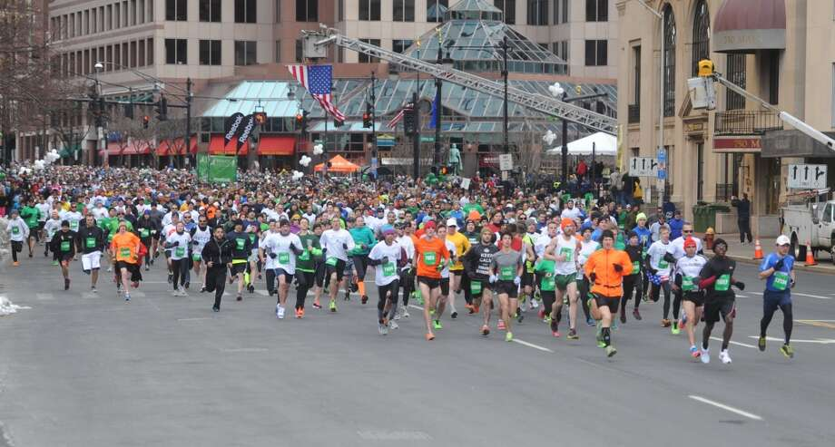 About 15,000 runners participated in the Sandy Hook Run for the Families 5K in Hartford, Conn. on Saturday, March 23, 2013.  Proceeds went to the Sandy Hook School Support Fund.