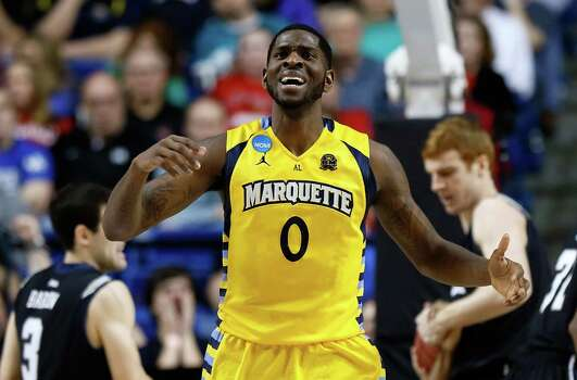 Marquette 74, Butler 72LEXINGTON, KY - MARCH 23:  Jamil Wilson #0 of the Marquette Golden Eagles reacts after having a foul called on him in the first half against the Butler Bulldogs during the third round of the 2013 NCAA Men's Basketball Tournament at Rupp Arena on March 23, 2013 in Lexington, Kentucky. Photo: Kevin C. Cox, Getty Images / 2013 Getty Images