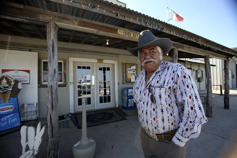 Humberto Montalvo stands in front of his Gillett General Store, which is seeing brisk business because of the South Texas oil boom. Photo: Tom Reel / San Antonio Express-News