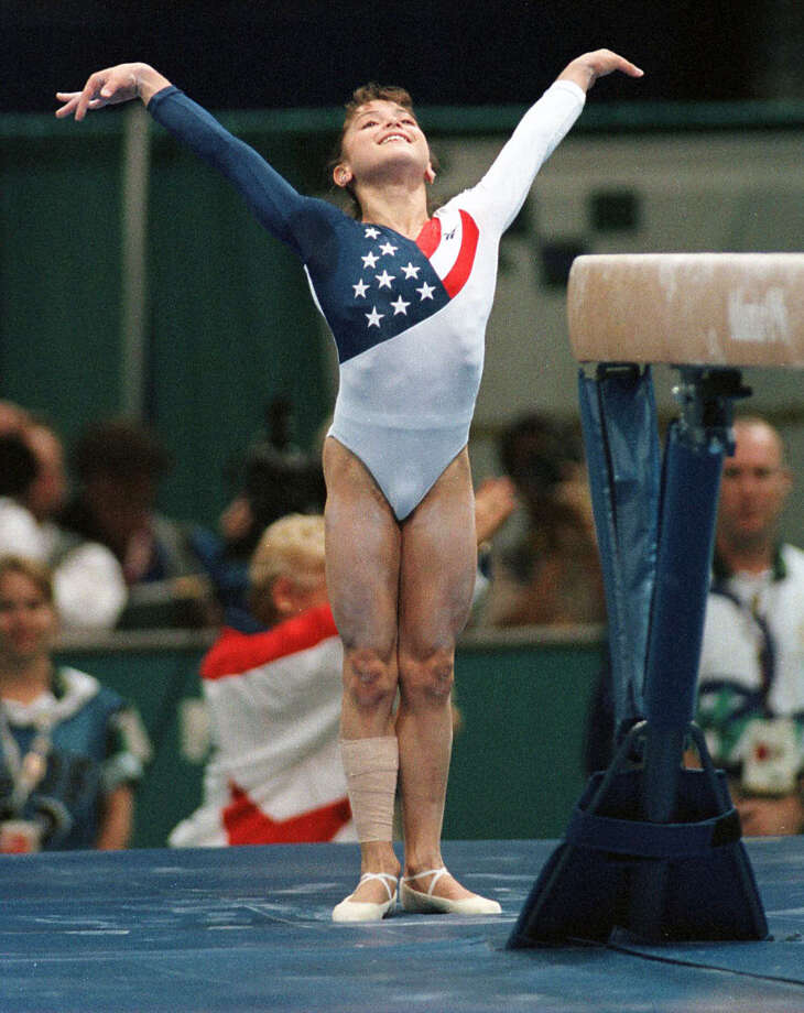 Dominique Moceanu moved with family to Houston at age 10 to train with Bela and Martha Karolyi. She is the youngest U.S. women's all-around champion in history in 1995, won Olympic gold medal at 14 as member of USA gymnastics team and all-around championship at 1998 Goodwill Games. Photo: Smiley N. Pool, Houston Chronicle / Houston Chronicle