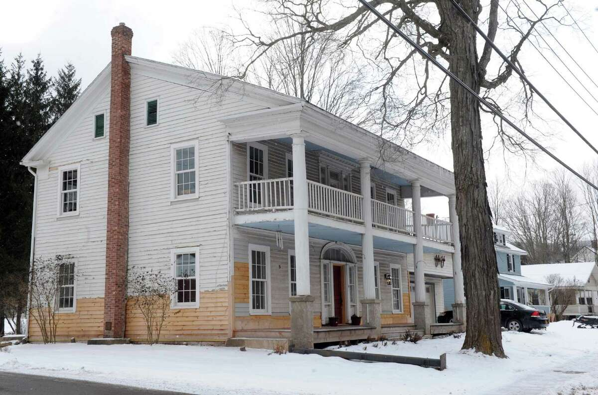 A home under repair on Main Street on Tuesday March 20, 2013 in Prattsville, N.Y. (Michael P. Farrell/Times Union)