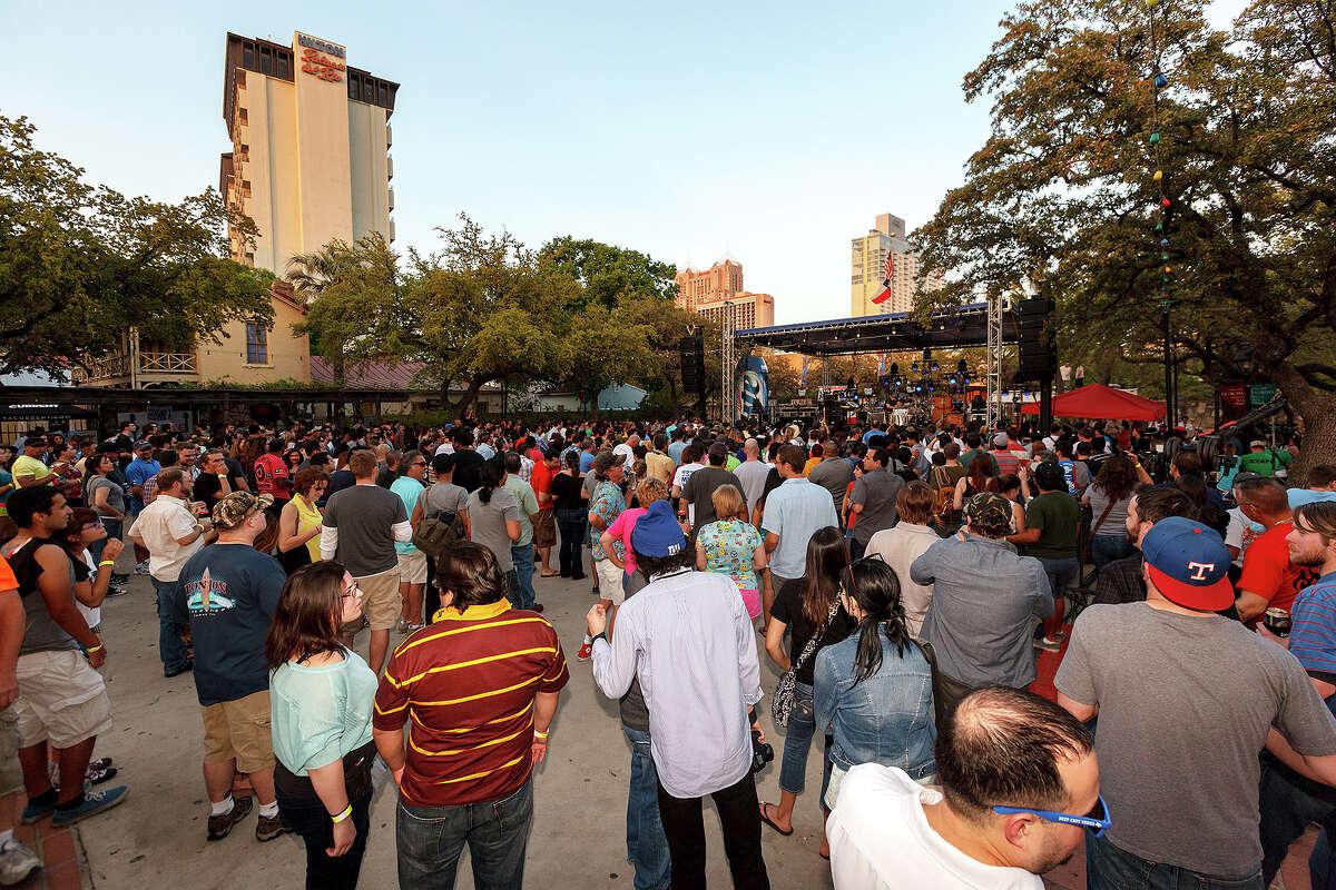La Villita's Maverick Plaza, seen here during the first annual Maverick Music Festival, will open three new restaurants slated to open in 2021.