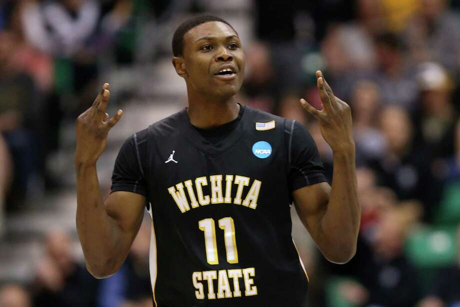 SALT LAKE CITY, UT - MARCH 23:  Cleanthony Early #11 of the Wichita State Shockers celebrates after making a three-pointer in the second half against the Gonzaga Bulldogs during the third round of the 2013 NCAA Men's Basketball Tournament at EnergySolutions Arena on March 23, 2013 in Salt Lake City, Utah. Photo: Streeter Lecka, Getty Images / 2013 Getty Images