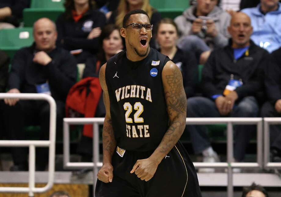 SALT LAKE CITY, UT - MARCH 23:  Carl Hall #22 of the Wichita State Shockers reacts after being called for a foul in the second half while taking on the Gonzaga Bulldogs during the third round of the 2013 NCAA Men's Basketball Tournament at EnergySolutions Arena on March 23, 2013 in Salt Lake City, Utah. Photo: Streeter Lecka, Getty Images / 2013 Getty Images