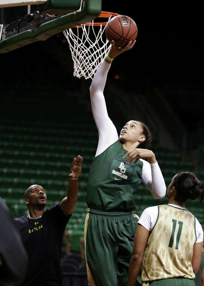 Baylor center Brittney Griner says she's way too early in her career to be considered great since she isn't even in the WNBA yet, but others beg to differ. Photo: Associated Press