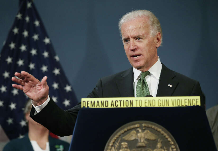 Vice President Joe Biden, whose pronouncement that he was 'comfortable' with same-sex marriage put pressure on President Obama to express his support as well. Photo: John Moore, Getty Images / 2013 Getty Images