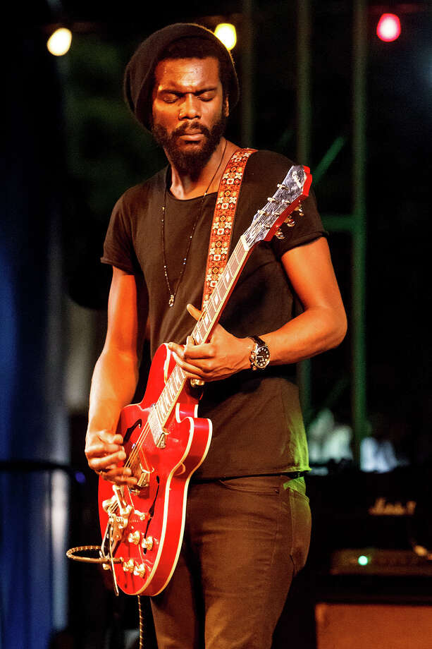 Austin's Gary Clark, Jr. performs during the 1st annual Maverick Music Festival at  La Villita's Maverick Plaza on Saturday, March 23, 2013.  Clark and The Toadies from Fort Worth headlined the event that included Girl in a Coma, Arum Rae and  Henry + the Invisibles among others.  MARVIN PFEIFFER/ mpfeiffer@express-news.net Photo: MARVIN PFEIFFER, Marvin Pfeiffer/ Express-News / Express-News 2013