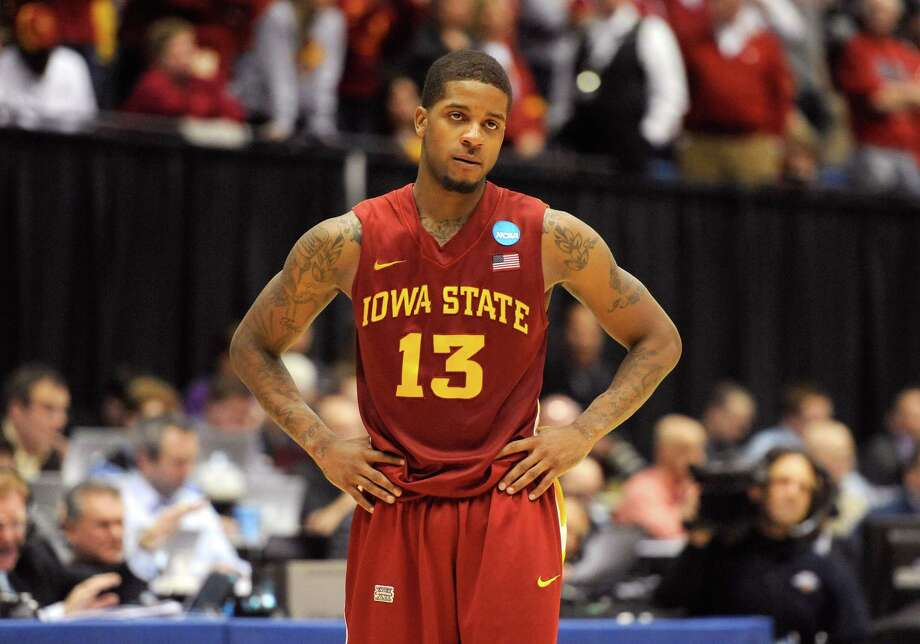Korie Lucious #13 of the Iowa State Cyclones looks on late in the game against the Ohio State Buckeyes during the third round. Photo: Jason Miller, Getty Images / 2013 Getty Images
